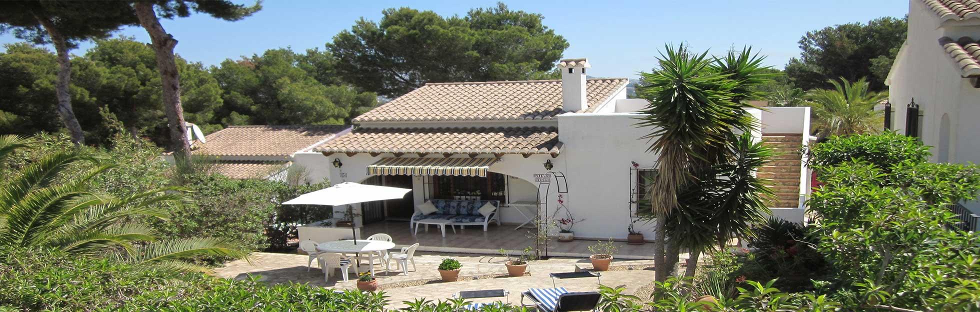 villa rosa holiday villa in moraira. Black Bedroom Furniture Sets. Home Design Ideas